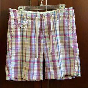 EDDIE BAUER plaid shorts